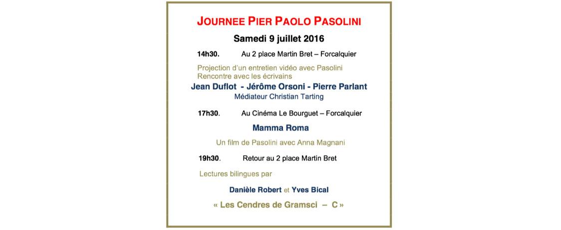 Journée Pier Paolo Pasolini – Rencontres littéraires