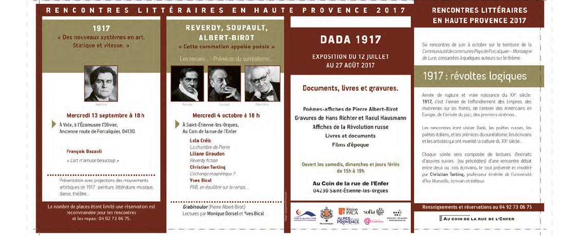 VII e Rencontres littéraires en Haute Provence 2017
